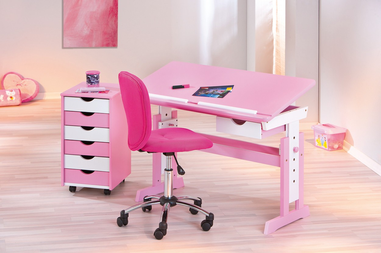 chaise bureau fille rose le coin gamer. Black Bedroom Furniture Sets. Home Design Ideas