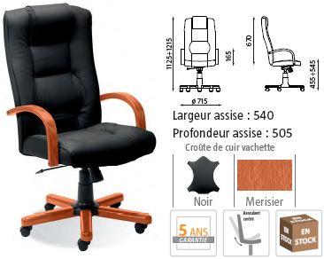 Fauteuil Bureau Bois Cuir Chaise Bureau A Roulettes