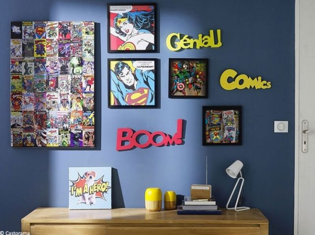 decoration marvel chambre le coin gamer. Black Bedroom Furniture Sets. Home Design Ideas