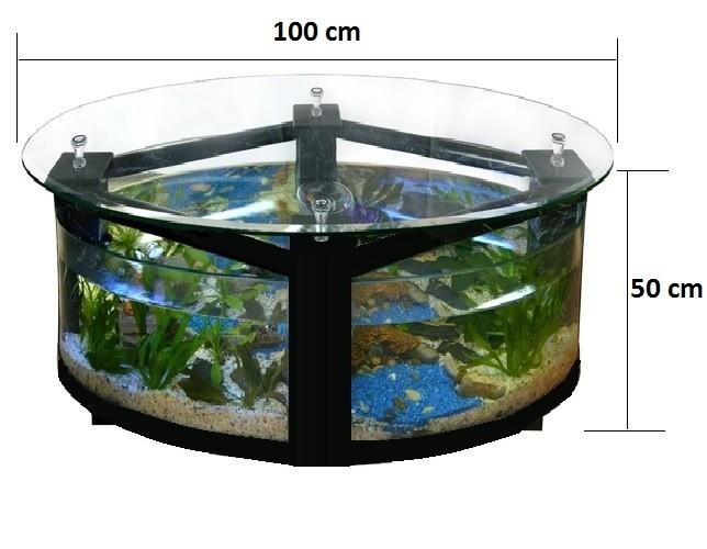 Table basse aquarium solde