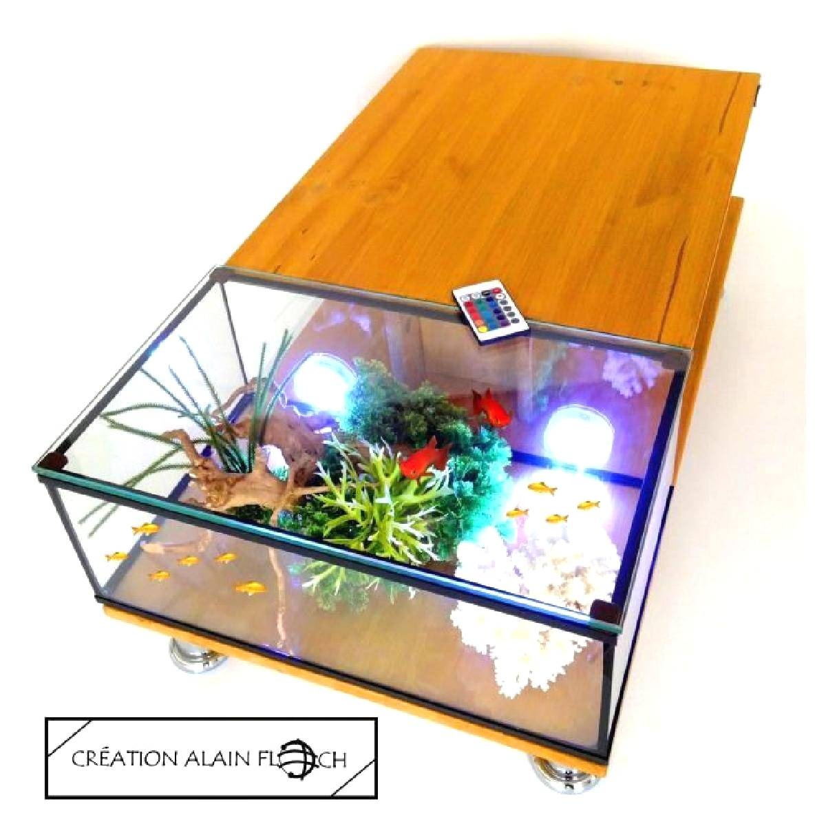 Table basse aquarium pas cher