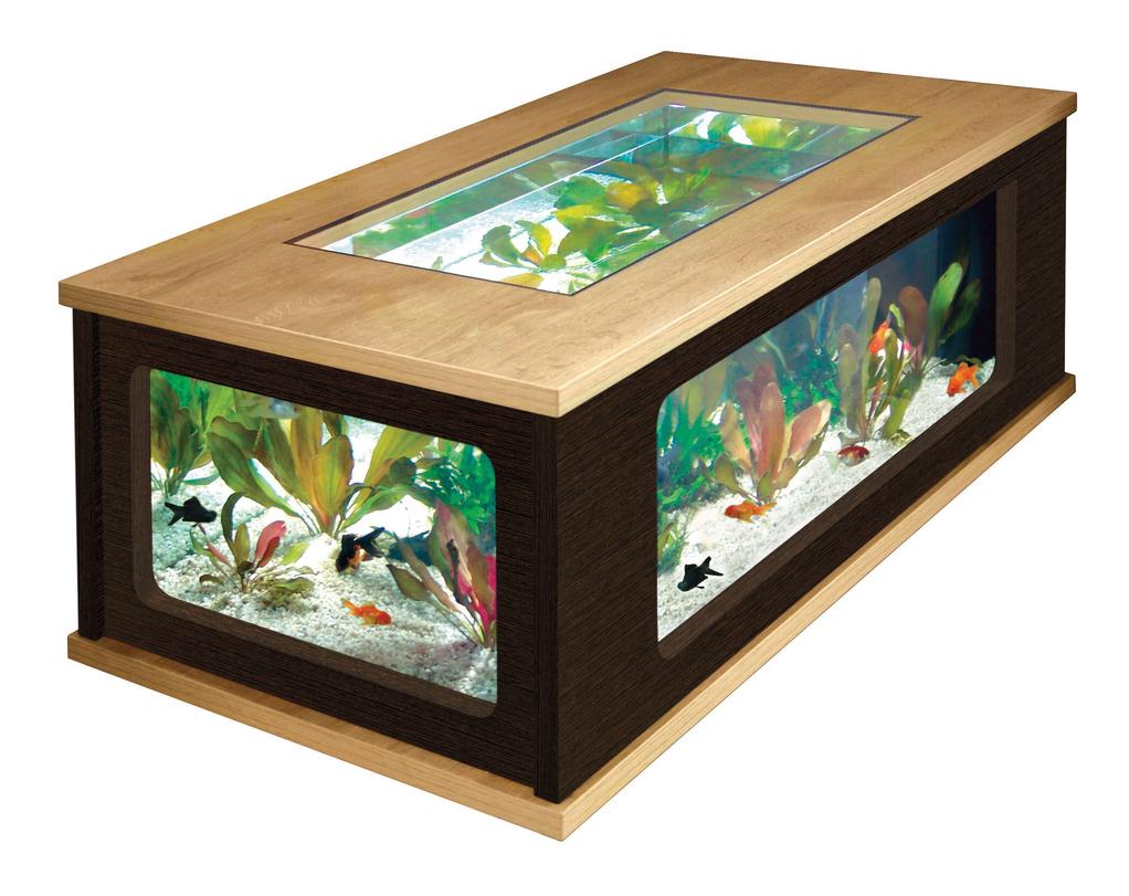 Table de salon aquarium