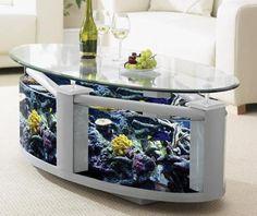 Table aquarium ronde