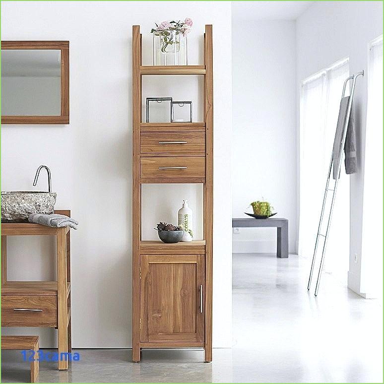 Colonne bambou salle de bain