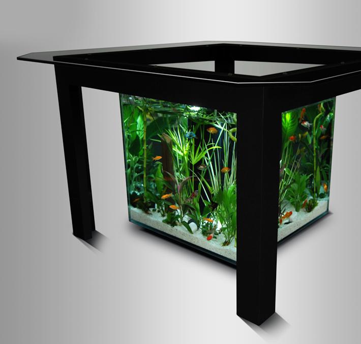 Petite table aquarium