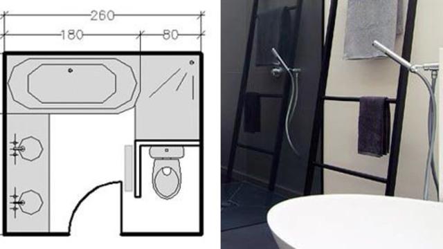 Plan salle de bain 5m2