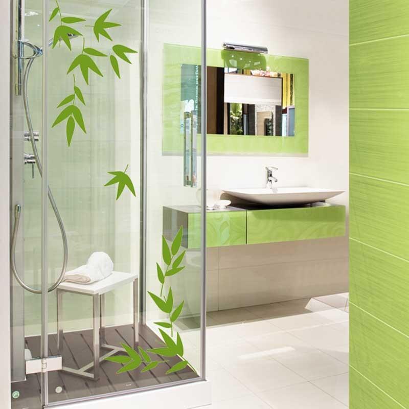 Stickers bambou salle de bain