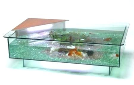 Table basse aquarium jardiland prix